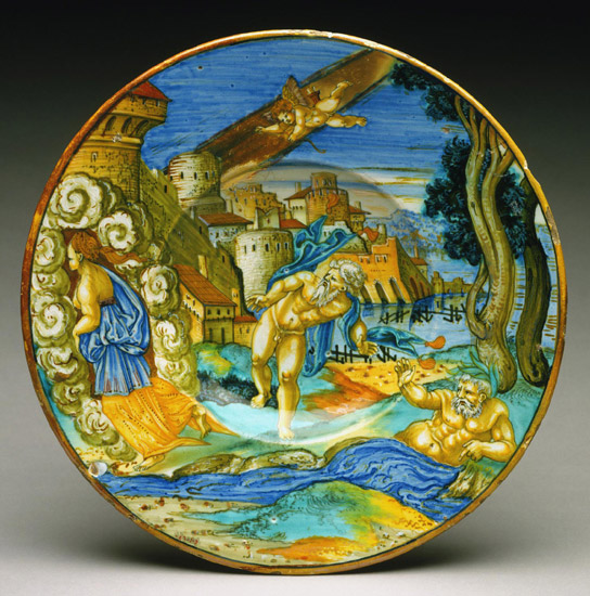 Plate with Arethusa Fleeing Alpheus