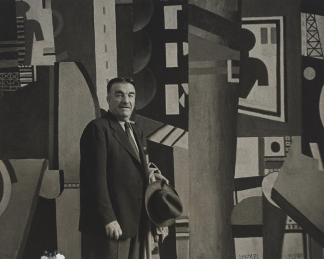Fernand Léger with The City at the Philadelphia Museum of Art, May 1943
