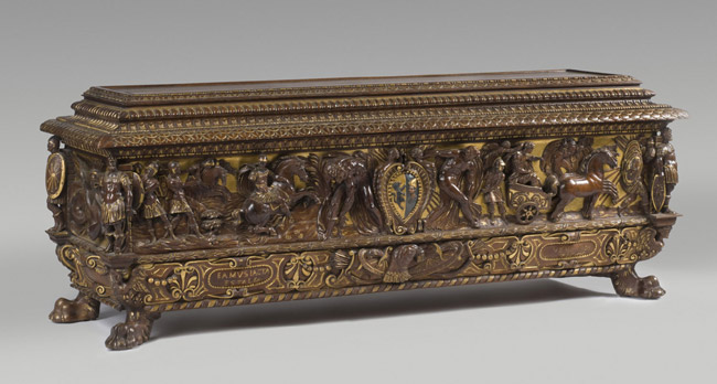 Chest (Cassone), with Scenes from the Life of Julius Caesar