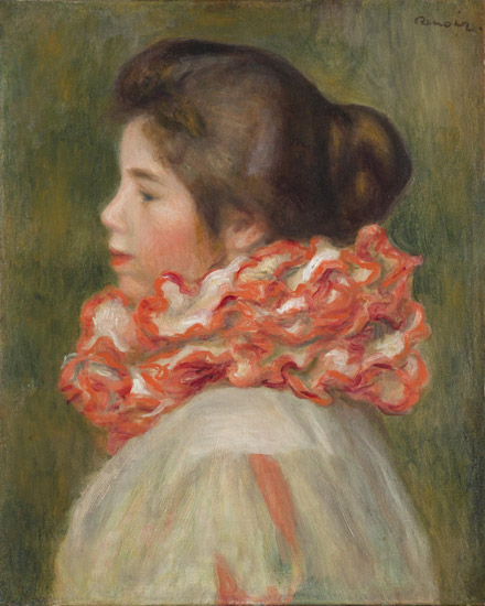 Girl in a Red Ruff