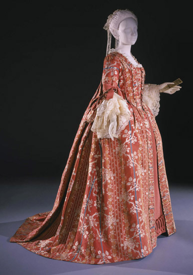 Woman's Dress (Robe à la française) with Attached Stomacher