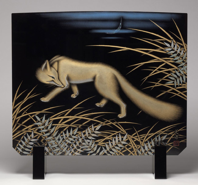 Tsuitate Screen with Design of Golden Fox
