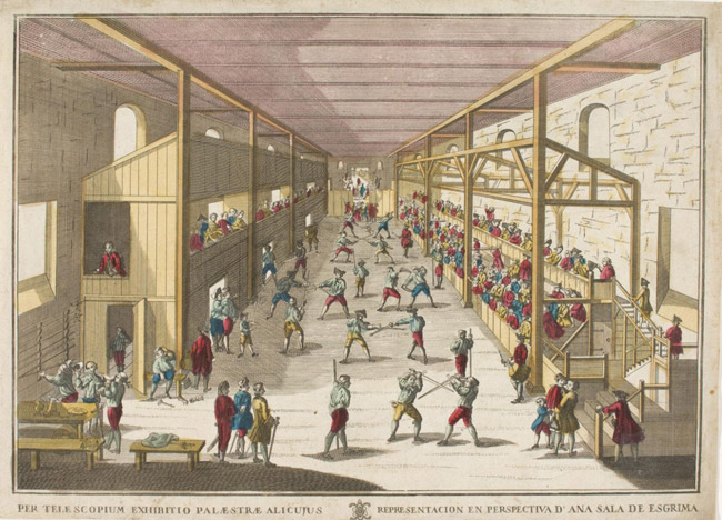 Perspective View of a Fencing Hall (Vue d'Optique)