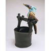 Olive Oropendola on Bucket