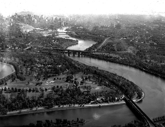 Fairmount Park to Center City, early 1920's
