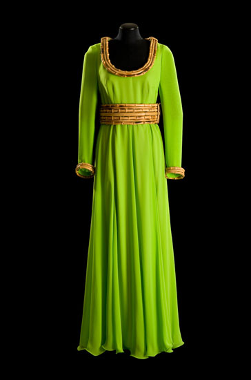 Dress, 1972, silk georgette with bamboo (N.136)