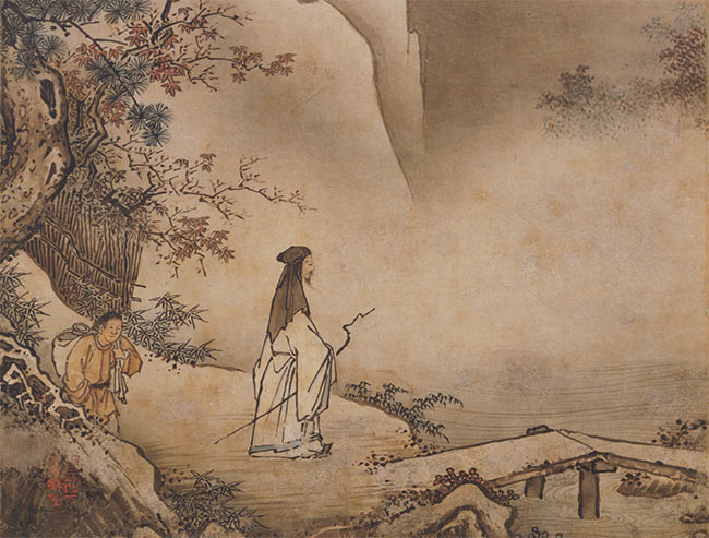 Landscapes (detail of hanging scroll)