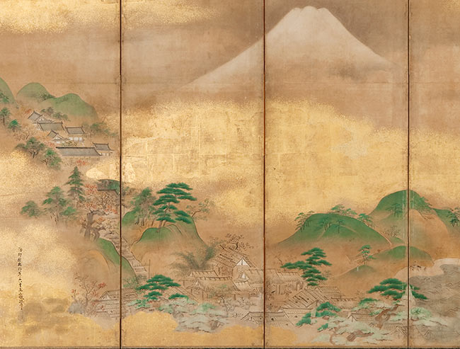 Mount Fuji (detail of six-fold screen)