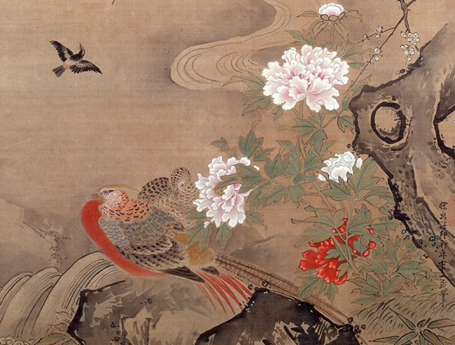 Birds and Flowers of the Four Seasons (detail of hanging scroll)