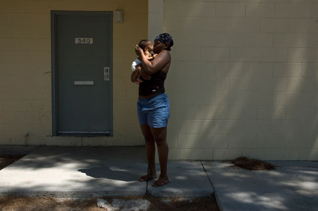 Woman Kissing Baby, Las Vegas, NV
