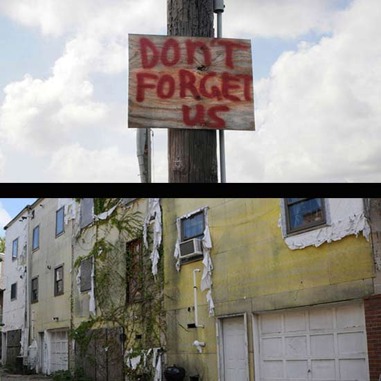 Don't Forget Us, Grand Isle, LA<br/>Osage Ave, Philadelphia, PA
