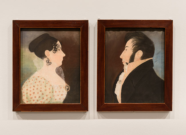 Portraits of a Woman and Man, 1815–25